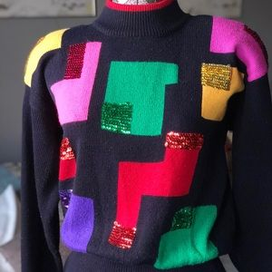 Color block sweater dress (VINTAGE)